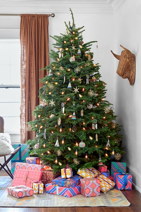 Welcome the south western holiday charm - If you find  ornaments like Indian tepee's, cactus, and dream-catcher, this tree may be surrounded  by sunrise colored gift wrapped presents.