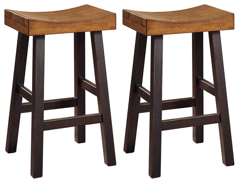 Ashley Furniture Signature Design - Glosco Bar stool -  Set of 2 - Two-tone