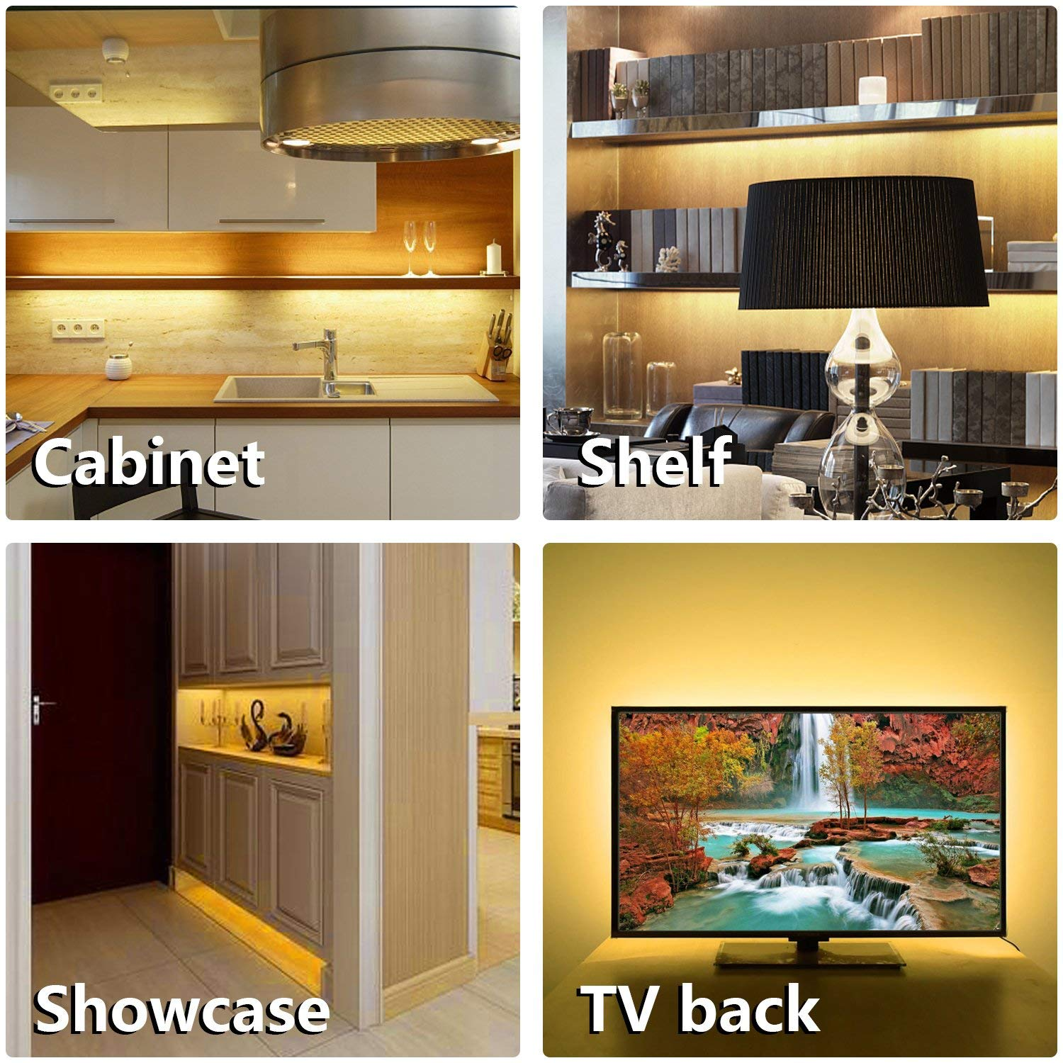 The Wobane LED systems are great to upgrade your Cabinets, Closet, and Desk. Sufficient brightness & Energy saving for Bookshelf, Wardrobe, & kitchen island.
