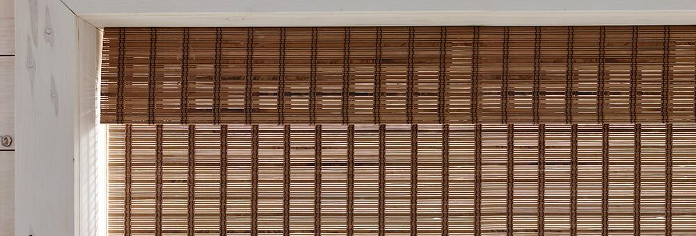 The slats used are crafted from decorative wood or bamboo. The louvers are woven together using colorful yarns or other decorative materials.
