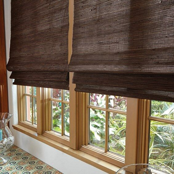 The idea behind these classical bamboo shades is to incorporate a natural look in our homes