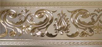 PVC Embossed Gold Foil Wallpaper Border