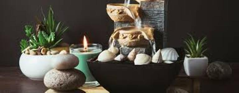 Fountain work great in your feng shui decor & Slow moving water allows energy to accumulate, or even be formed.