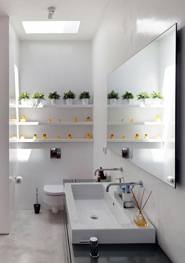 Small Plant Gallery Bathroom
