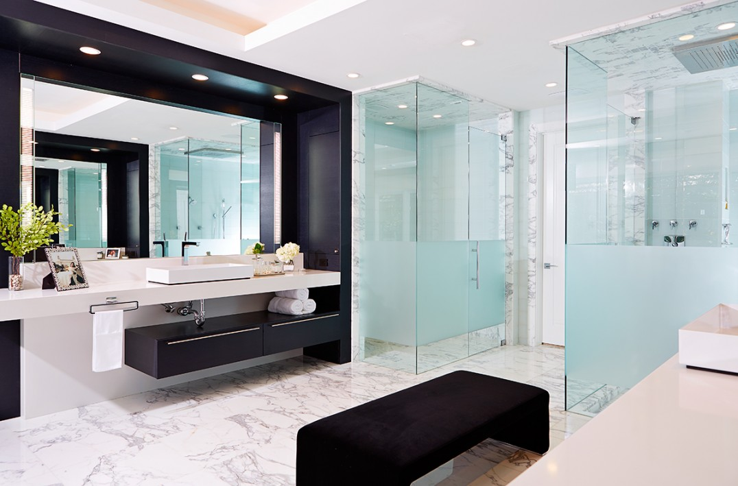This glamorous his and hers master bath style indicates you'll never ever need to defend area once again.