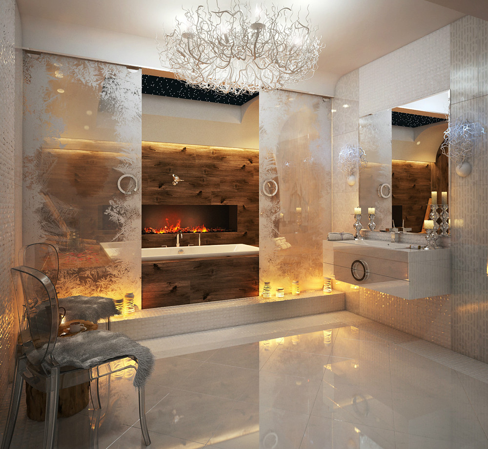 Fire and Ice Bathroom Accent