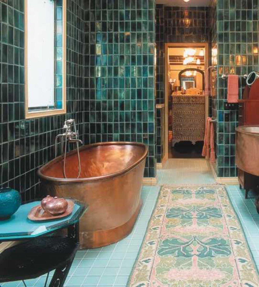 Green Bathroom Design Ideas -- Rock the Casbah