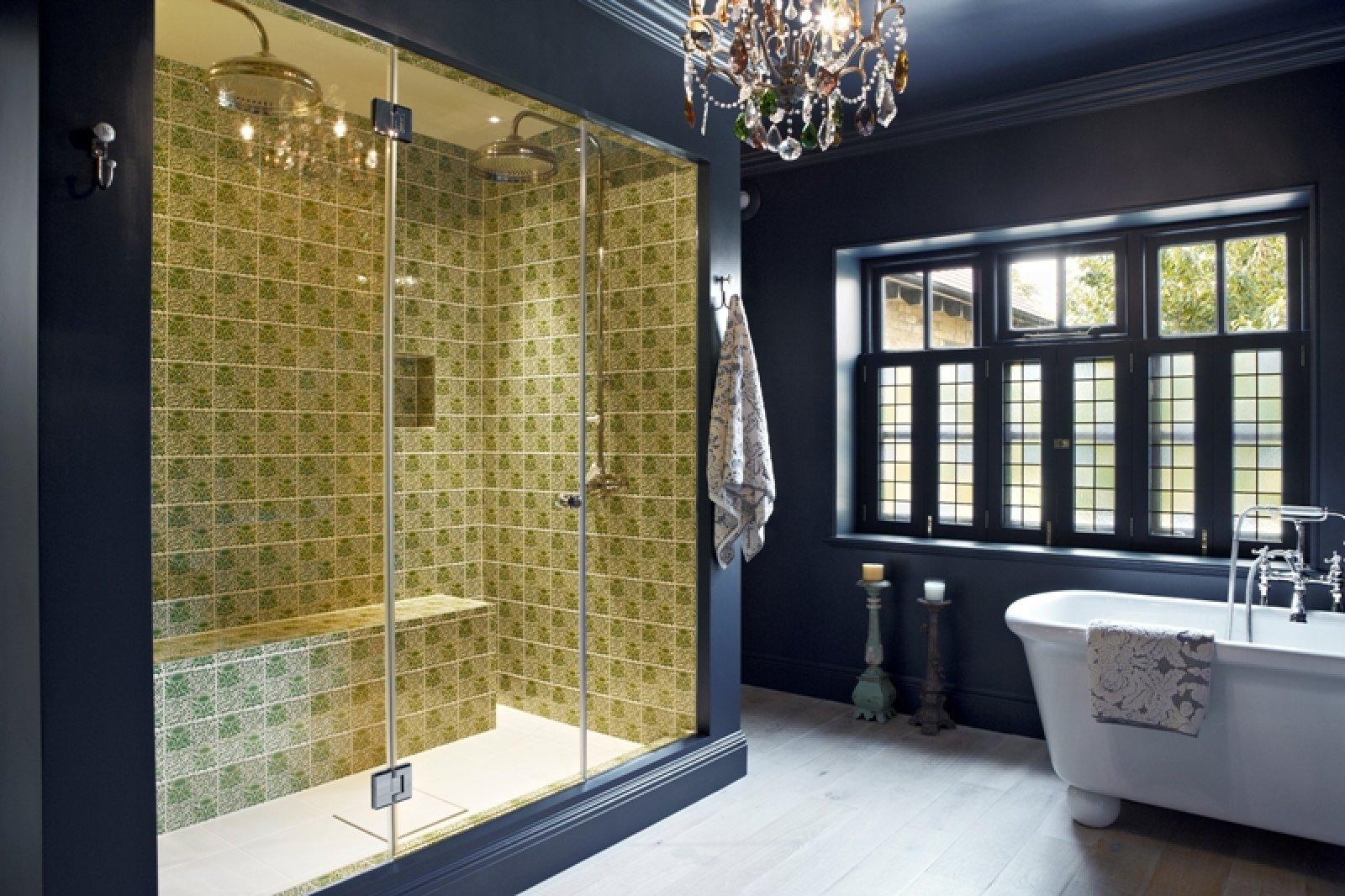 Historical Navy Blue Bathroom Style