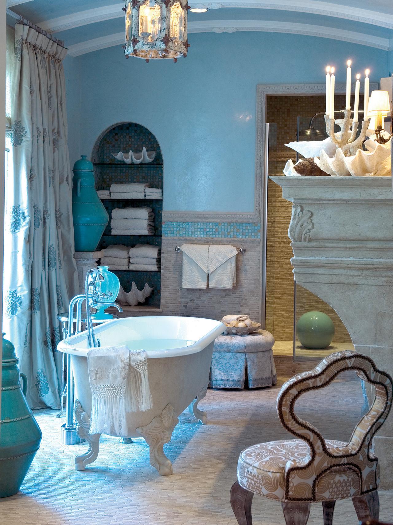 Blue Coastal Bathroom Idea.
