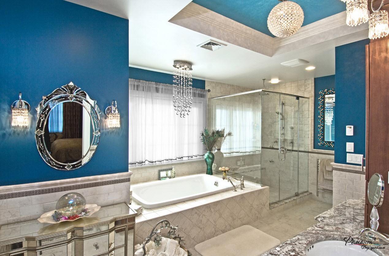 A Blue Bathroom Oasis