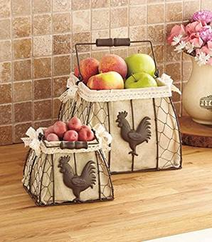 Rooster Storage Baskets