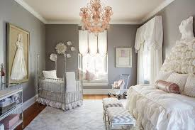 baby nursery in lilac