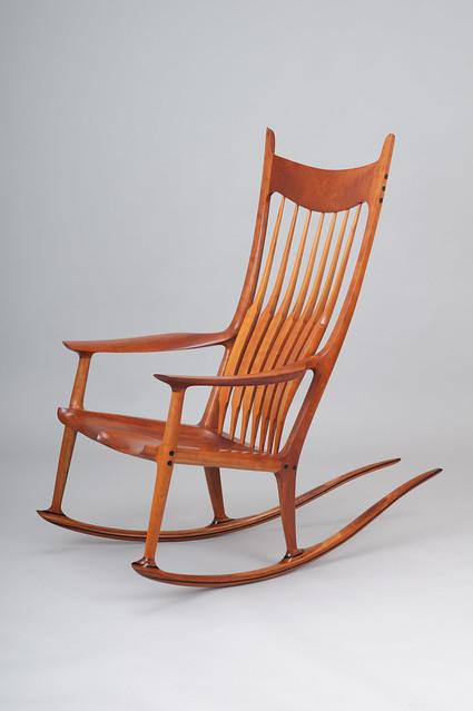 Sam Maloof cherry rocking chair