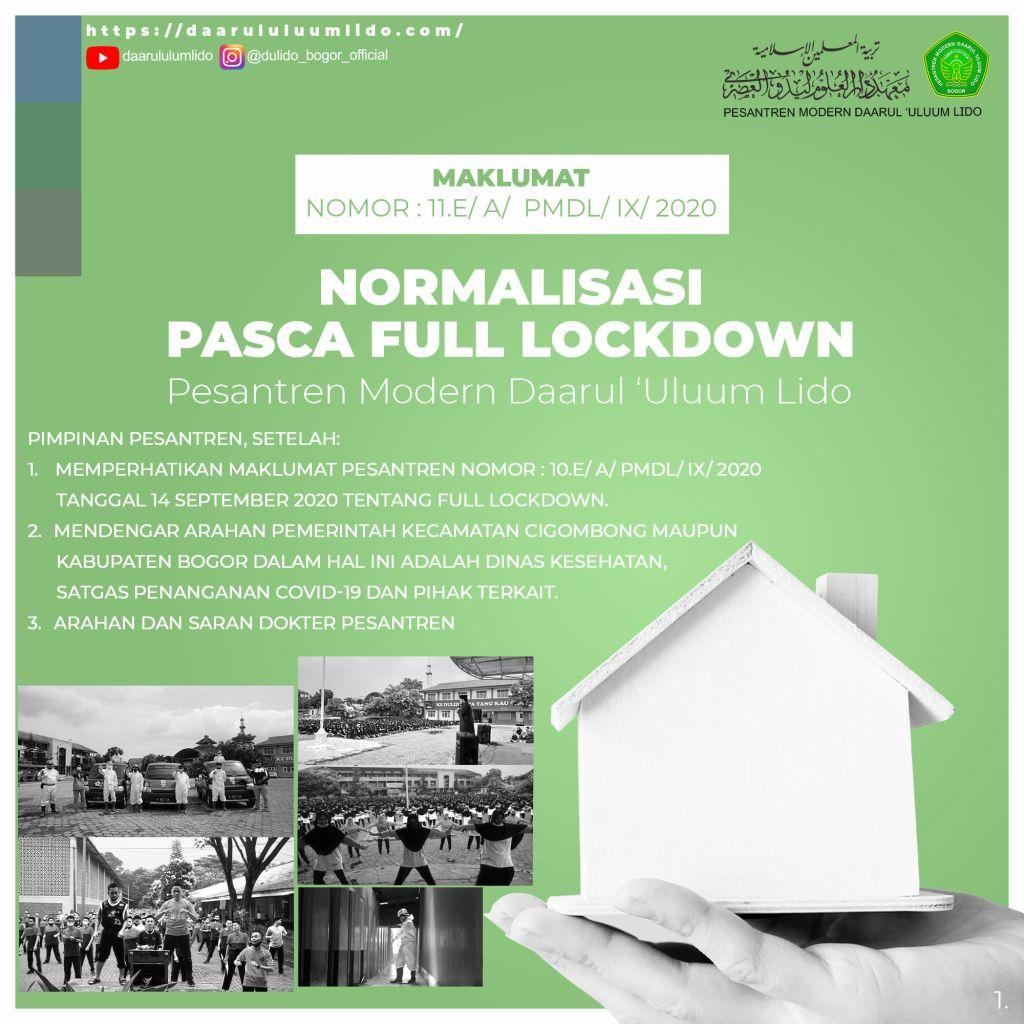 Maklumat Normalisasi Pasca Full Lockdown Di Perbolehkan Kembali Tapi