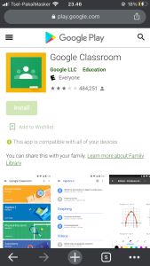 google classroom in playstore