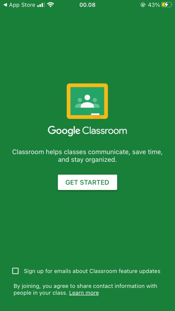 Halaman Awal Google Classroom