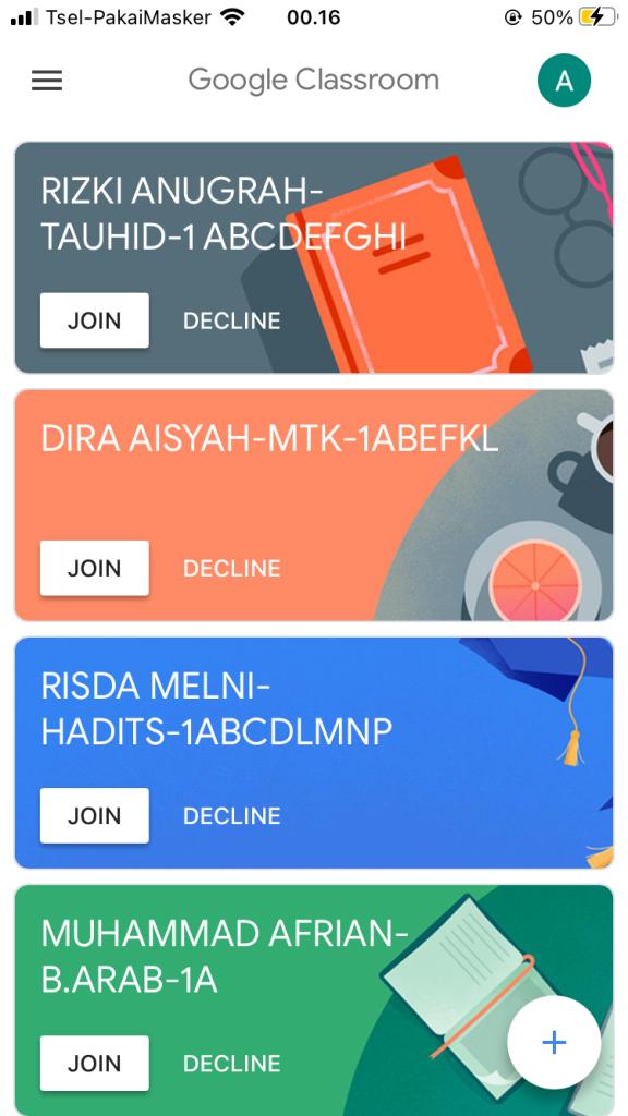 Join / Gabung Kelas