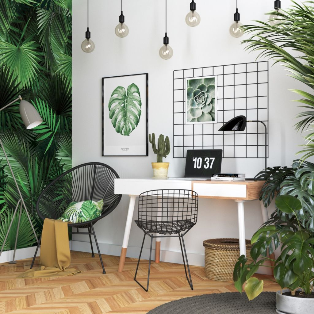 Botanical-home-office-decor-scheme