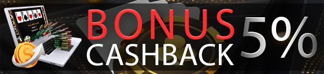 bonus cashback idn poker 5%