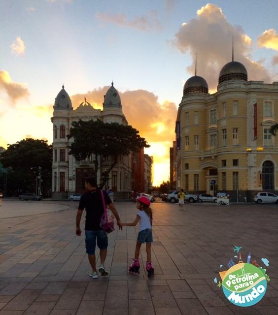 Praça do Marco Zero no Recife Antigo