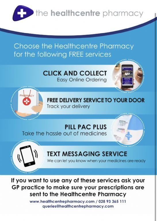 Choose the Healthcentre Pharmacy