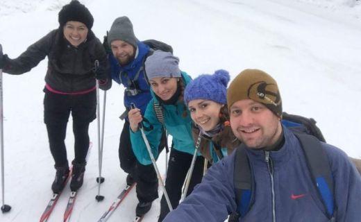 Petra s přáteli v Kanadě