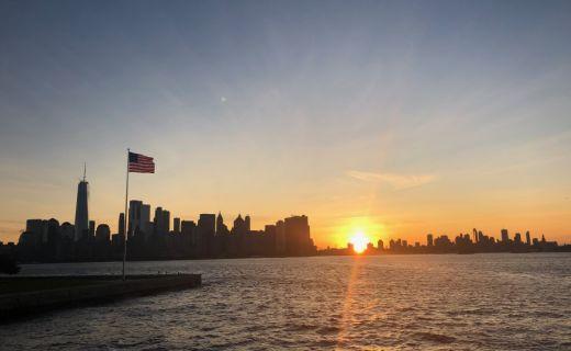 Fotografie pobřeží v NY