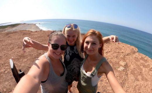 Selfie s kamarádkama z Kypru