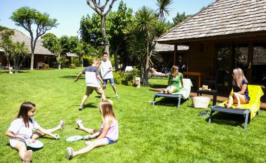 Zelená zahrádka v campingové resortu