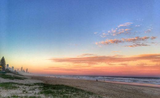 Západ slunce v Austrálii