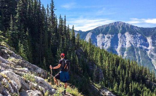 Hiking v kanadských horách