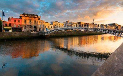 Fotografie mostu v Irsku
