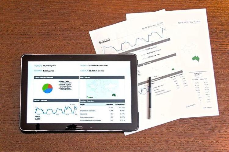 gráficos financeiros
