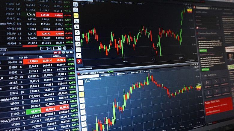 gráfico sobre crescimento das ações da bolsa de valores