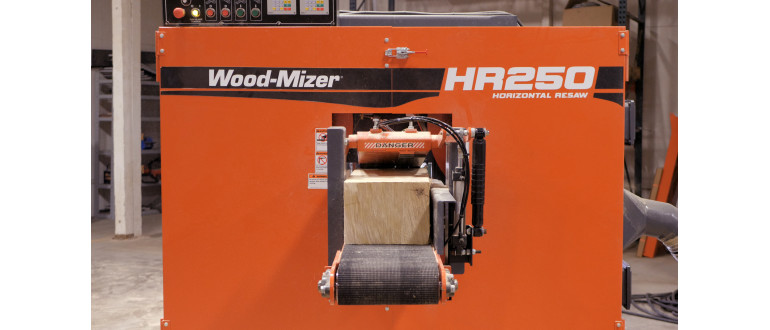 HR250 Horizontal Resaw Capacity
