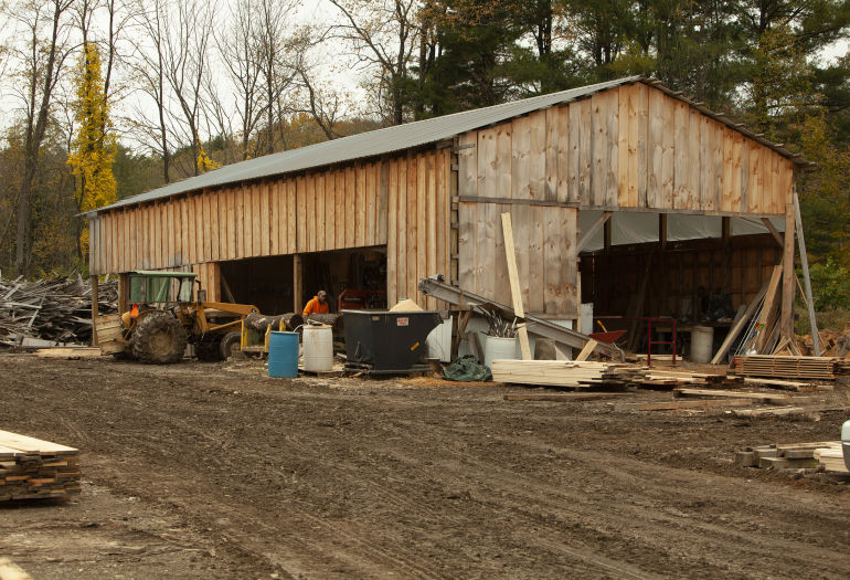 Full view of Holland Timber Company woodworking operation