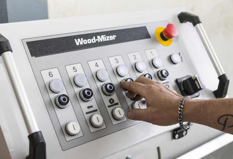 Simple easy to use control panel for MP360 Planer Moulder