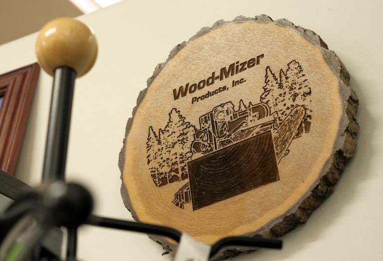Wood-Mizer wooden decoration