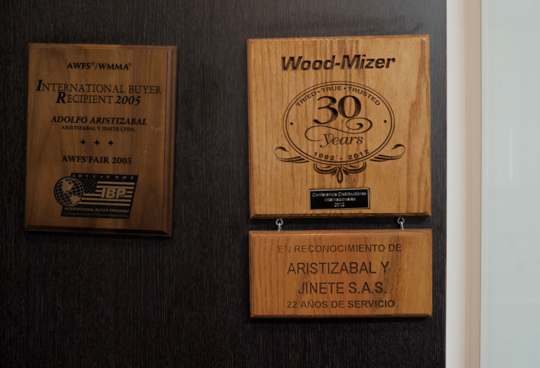 Wood-Mizer 30 years of service award