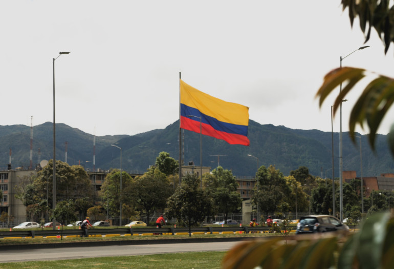 Colombian flag in Colombia