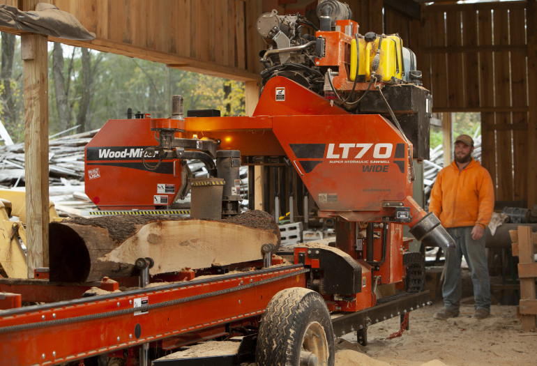 Wood-Mizer LT70 Wide sawmill in action