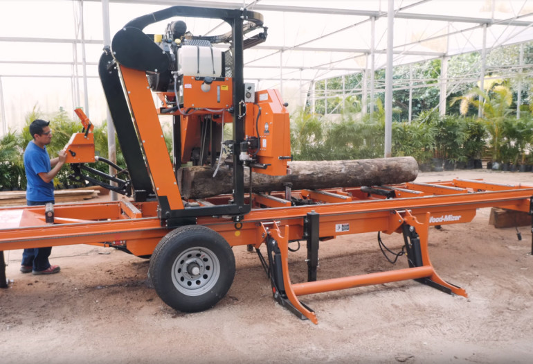 Wood-Mizer LX450 twin rail portable sawmill