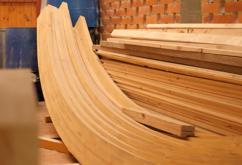 Wood glulam structures