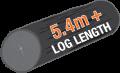 5.4m log length sawmill