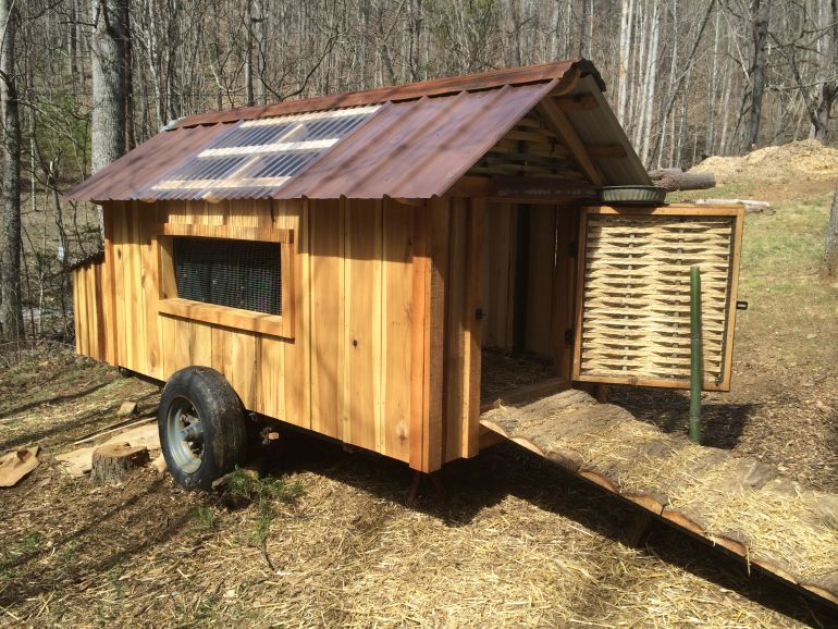 Wood mizer personal best for Movable duck house