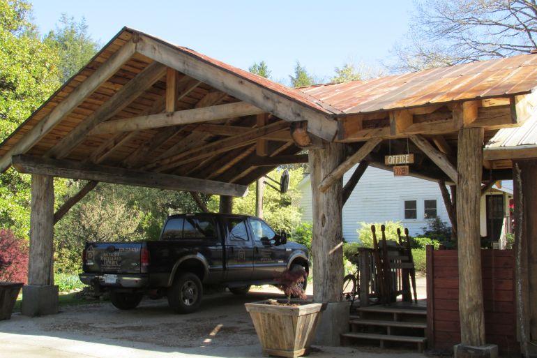 Rustic Timber Carport Wood Mizer Personal Best Contest