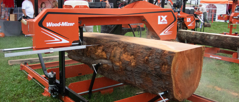 LX250 twin rail portable sawmill wide capacity