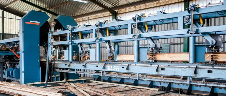 Twin Vertical Saw Material Transport
