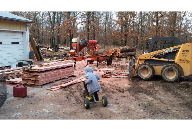 One-Man Logging and Sawmilling Business