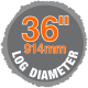 "36"" log diameter sawmill"